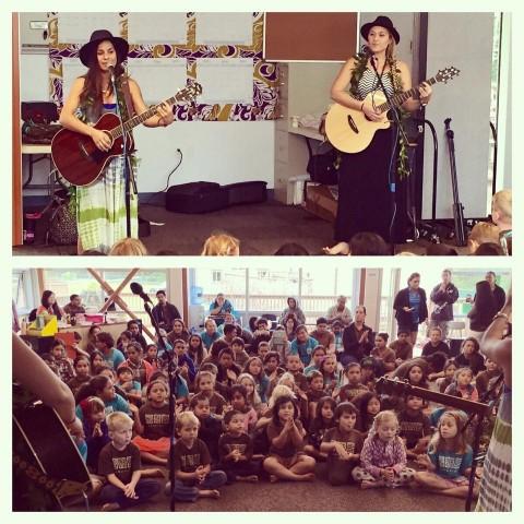 Anuhea Kimie Help Mana Maoli Teach Abcs Through Music At 4 Kauai